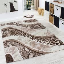 teppich leopard print rug for chic floor decoration ideas chic zebra print rug