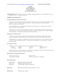 Operating Room Nurse Resume Objective
