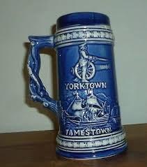 Blue Yorktown Jamestown Willamsburg Virginia Stein Mug | Mugs, Beer mugs,  Beer steins