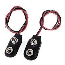 TOOGOO 2pcs 15cm Wire Cable 9V 9 Volt Battery ... - Amazon.com