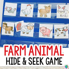 Printable Farm Animal Hide And Seek Game For Preschool