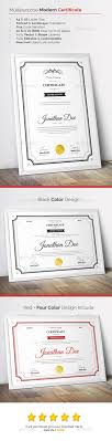 17 best ideas about certificate templates gift modern certificate template here graphicriver net