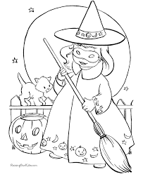 Small Picture Halloween Coloring Pages Witch 002