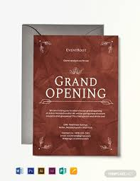 Grand Opening Invitations Grand Opening Invitation Template Word Psd Indesign