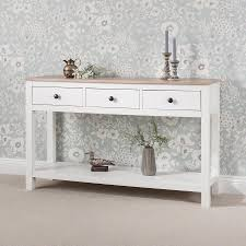 white console table with drawer. Unique White White Console Table 3 Drawers With Shelf  Laura James And Table With Drawer S