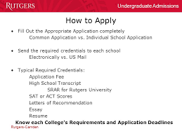 Rutgers University Essay The College Admissions Process Rutgers