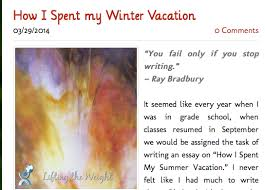 kairos clarissa narrative writing and the self screenshot of blog post how i spent my winter vacation text