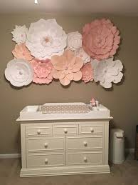 flower wall decor paper flower wall art cream