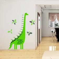 Chart Paper For Kindergarten Dinosaur Laser Wall Sticker Growth Chart Wall Paper