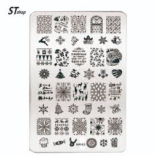 christmas design templates promotion shop for promotional 1pcs beauty christmas design nail art image stamping plates manicure template stamp polish stencil diy manicure nail tools mr 03