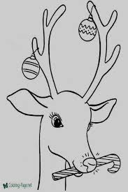 Santa Claus And Reindeer Coloring Pages Reindeer Coloring Pages To