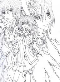 Small Picture Vampire Knight Lineart by sheenabon on DeviantArt