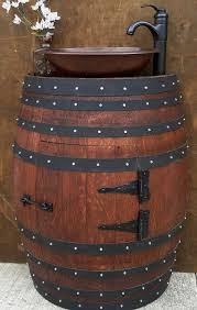 oak wine barrels. turning any area in your home into a rusticlooking scene will be easy with certified french oak half wine barrel vanity table this compact x is barrels o