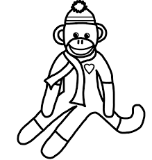 Free Printable Monkey Coloring Pages 28 Collection Of Sock High