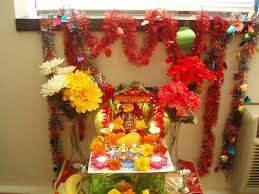 home decoration best ganesh chaturthi at my home