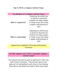 compare and contrast essay sample educational writing how to write a compare and contrast essay wikihow