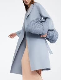 Light Blue Wool Dress Wool Coat Light Blue Light Blue Coat Max Mara Coat Grey