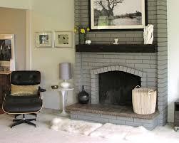 paint brick fireplace grey