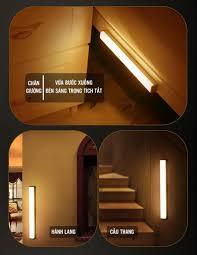 Đèn Cảm Ứng Dán Tường LED Vàng công suất 3W Chiếu Sáng 30cm, sạc pin USB -  Đèn cảm ứng Thương hiệu OEM