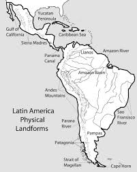 Latin America Outline Maps Outline Map Us Rivers Images Best North And South America Physical