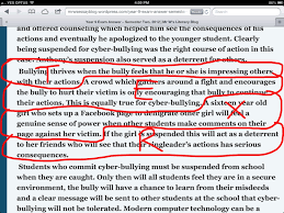 cyber bullying essay cyber bullying gcse english marked by year 9 essay writing mr w 039 s literacy blog