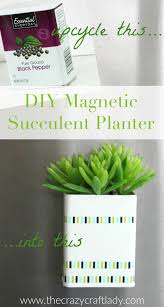 DIY Magnetic Succulent Planter - this super simple DIY upcycle craft  project transforms an old pepper