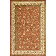 agra brick red 11 ft x 16 ft area rug