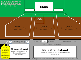 Walworth County Fair Concert Seating Chart Concert Seating Dodge County Fairgrounds