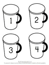 hot chocolate mug writing template. Simple Mug Hot Chocolate Numbered Cards In Black And White Throughout Hot Chocolate Mug Writing Template U