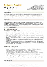 IT Project Coordinator Resume Samples QwikResume Fascinating Project Coordinator Resume