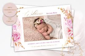 Template For Birth Announcement Birth Announcement Card Template 9