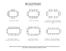 table size seating chart dining table sizes and seating standard table sizes standard table sizes coffee