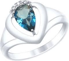 Серебряное <b>кольцо</b> SOKOLOV <b>92011470_s</b> с топазом London ...