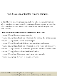 Sales Coordinator Resume Top224salescoordinatorresumesamples224conversiongate224thumbnail24jpgcb=124302246255 16