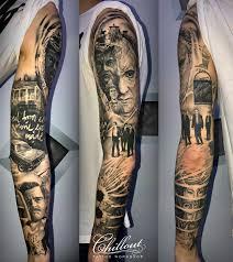 тату рукав тарантино Chillout Tattoo Workshop