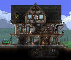 Terraria House Designs 3 Level Terraria House With Basement Terraria House Design