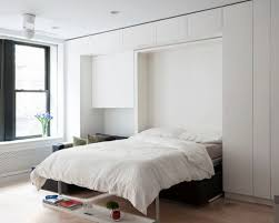 small modern bedroom white. Small Minimalist Master Bedroom Photo In New York With White Walls Modern R