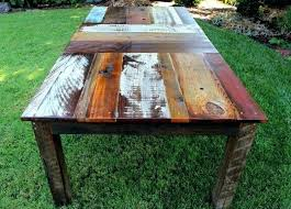 rustic dining table diy. diy rustic outdoor dining table and bench wood kitchen tablereclaimed r