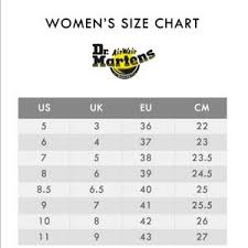 Dr Martens Size Chart Cm Acquisti Online 2 Sconti Su Qualsiasi Caso Doc Martens Size