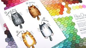 Cat Color Chart What Color Is Your Cat Coloring Cats With Copic Markers Plus Hex Chart