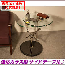 サイドテーブル ガラス コーナーテーブル 飾り台 イメージ写真