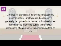 Why Is Insubordination Is Grounds For Dismissal Youtube