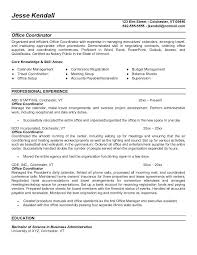 Project Coordinator Resume Samples Best Coordinator Resume Objective ...