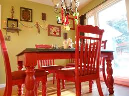 diy red kitchen table i love this for the kitchen add black and white buffalo check curtains and you ve got it made furniture red