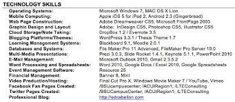 Resume Computer Skills List Example