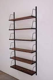 custom wall mounted bookshelf