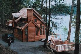 cabin plans lake house plan walkout bat floor cottage with