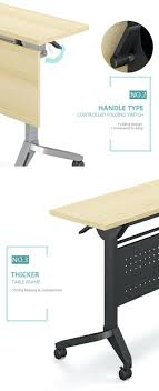foldable computer desk office meeting training folding table with wheels india um size
