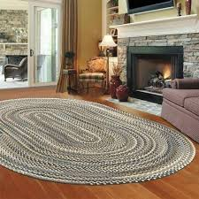 stylish braided area rugs living room