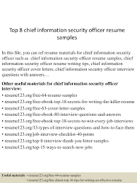 Resume Chief Information Security Officer Resume For Study